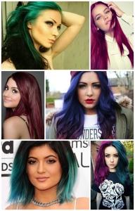 Colores de cabello de fantasía para piel morena clara a morena media